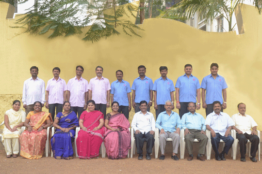 AFAC Non Teaching Staff 2014 with Vice Principal Mr. Pise Sir & Supervisor Mrs