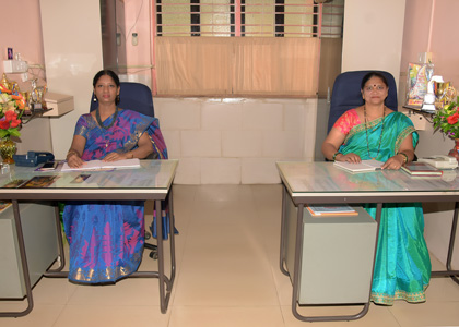Mrs. Sandra H.M. Primary English & Mrs. Varsha H.M. Primary Marathi in their office