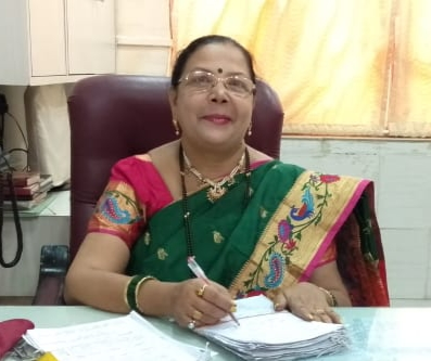 Principal Mrs. Sadhana Patil in her office