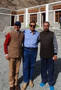 With Honorable Executive Councillor of Ladakh