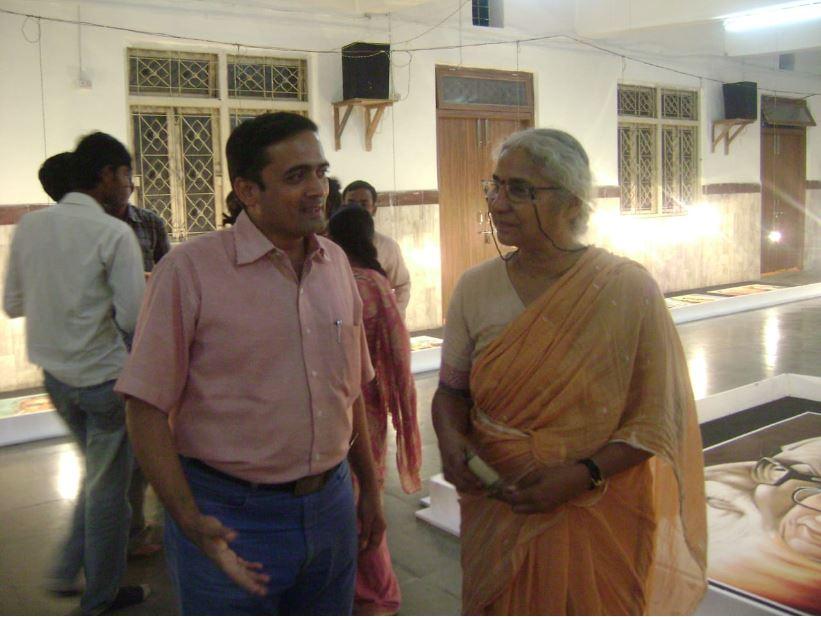 Jitendra sir with Medha Patkar Madam - Reknowned Acticist
