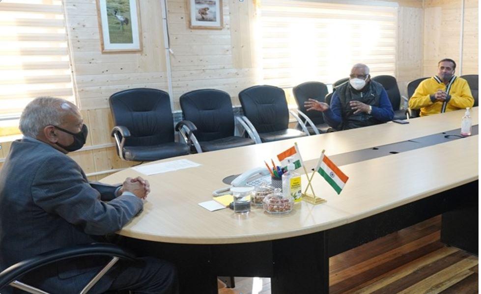 With Honorable Lieutenant Governor of Ladakh - Shri R. K. Mathur ji