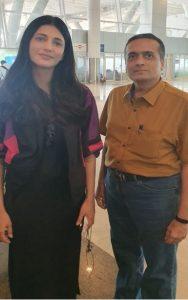 7With film actress Ms. Shruti Hassan