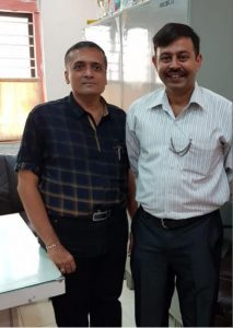 With Colonel Lalit Taharabadkar
