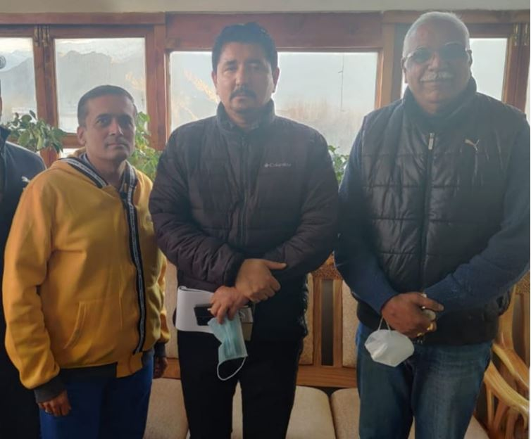 With Honorable Chief Executive Councillor of Ladakh