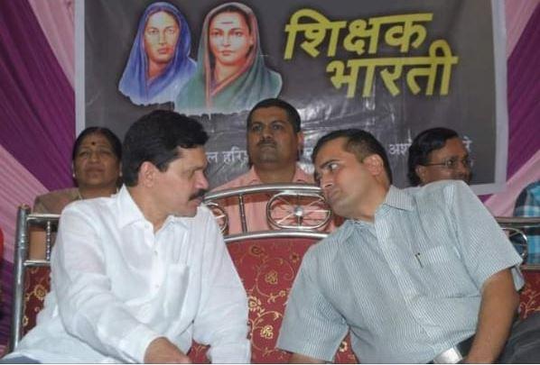 With Member of Legislative Council (Education) - Shri. Kapil  Patil