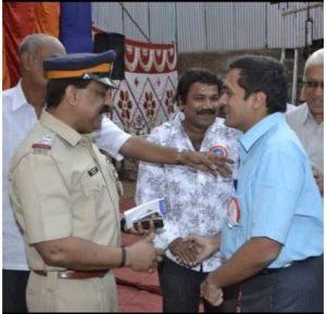 With Gallantry Award Winner Sr. Inspector Sanjay More
