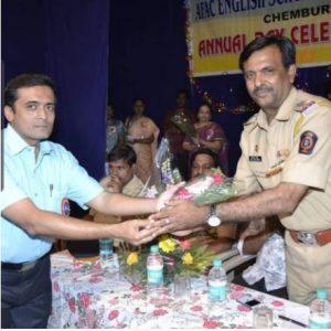 Sir, felicitated by Asst. Commissioner of Police Shri Rathod