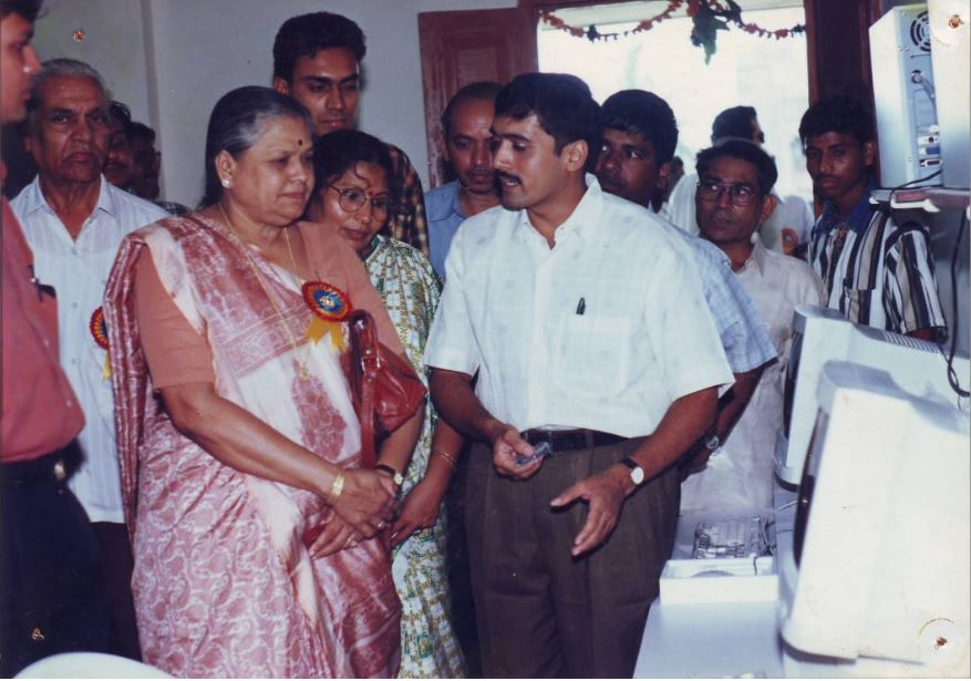 Jitendra Sir with Smt. Jayvanti ben Mehta, the then Minister for State - Power in Central Government